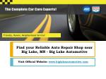 Find your Reliable Auto Repair Shop near Big Lake, MN - Big Lake Automotive