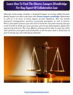 Learn How To Find The Divorce Lawyers Woodbridge For Any Aspect Of Collaborative Law