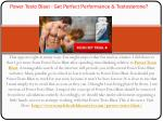 Power Testo Blast - Enhance your Size and Stamina & More Performance!!