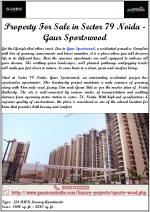 Property For Sale in Sector 79 Noida - Gaur Sportswood