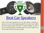 Best Car Audio