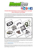 Precision Diesel Performance is Your Complete Diesel Truck Repair Shop in Rochester City, Michigan