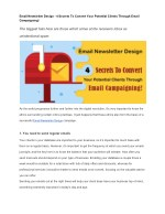 Email Newsletter Design - 4 Secrets To Convert Your Potential Clients Through Email Campaigning!