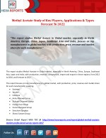 Methyl Acetate Study of Key Players, Applications & Types Forecast To 2022