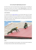Tips To Hiring Fine Roofing Contractor