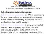 Robotic process automation (RPA) – Best software training institute