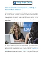 How Does an Unsecured Business Loan Help to Develop Your Business?