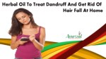 Herbal Oil To Treat Dandruff And Get Rid Of Hair Fall At Home