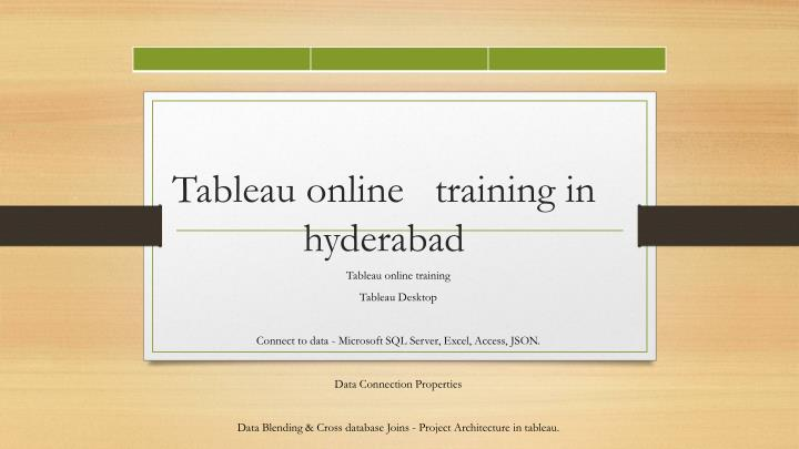 PPT - Tableau online training in hyderabad PowerPoint
