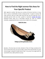 How to Find the Right women flat shoes for Your Specific Product
