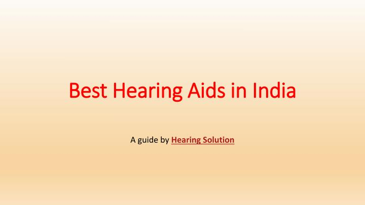 best hearing aids in india n.