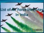 List of air force Institutes in India