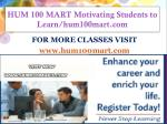 HUM 100 MART Motivating Students to Learn/hum100mart.com