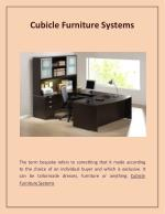 Cubicle Furniture Systems