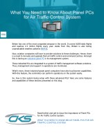 What You Need to Know About Panel PCs for Air Traffic Control System