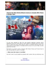 Choose the Best Online Bitcoin Casino in Canada With These 6 Simple Tips!