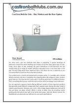 Cast Iron Bath for Sale – Buy Modern and the Best Option