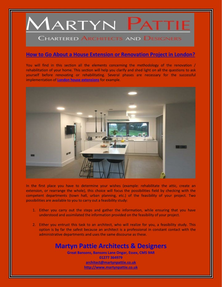 how to go about a house extension or renovation n.