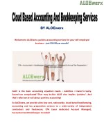 Online Bookkeeping And Accounting Services By Aloewerx