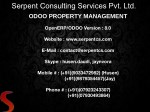 Odoo Property Management System