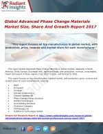 Global Advanced Phase Change Materials Market Size, Share And Growth Report 2017