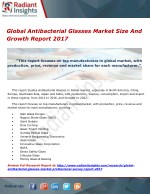 Global Antibacterial Glasses Market Size And Growth Report 2017