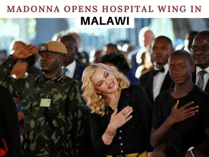 Madonna Opens New Hospital Unit in African Country