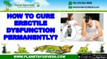 How to Cure Erectile Dysfunction Permanently?