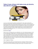Nuluxe Cream: Advance Anti Aging cream, get attractive skin with Free Test Offer