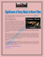 Significance of Scary Music in Horror Films