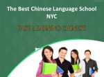 The best Chinese language school NYC