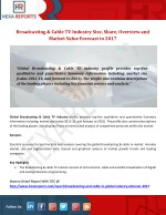 Broadcasting & Cable TV Industry Size, Share, Overview and Market Value Forecast to 2017