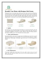 Beautify Your Home with Designer Bed Linens