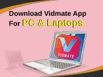 Download Vidmate App For Pc And Laptops