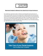 Why Dental Implant in Edmonton has Gained Such A Huge Prominence