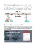 top 10 mobile app development companies in India