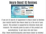 Neuro Boost IQ Reviews