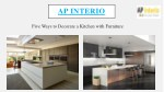 Five Ways to Decorate Your Kitchen with modular Furniture - AP Interio