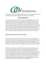 YouTube Marketing | Video Advertising | OOI Solutions