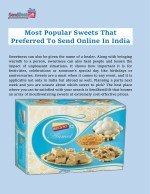 Most Popular Sweets That Preferred To Send Online In India
