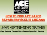 How to Find Appliance Repair Services in Chicago