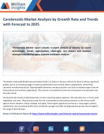 Carotenoids Market Share, Market Size, Market Trends and Analysis to 2025