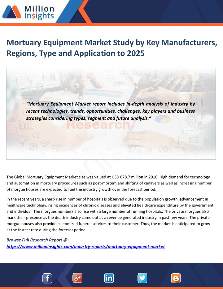 PPT - Mortuary Equipment Market Technological Advancements