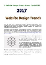 Website Design Trends Are on Top in 2017