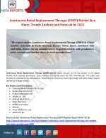 Continuous Renal Replacement Therapy (CRRT) Market Size, Share, Trends Analysis and Forecast by 2022