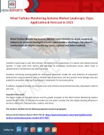 Wind Turbine Monitoring Systems Market Landscape, Type, Application & Forecast to 2021