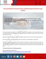 Vaccine Market Overview, Future Outlook & Research Forecasts to 2021
