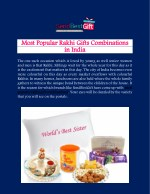 Send Rakhi Gifts to India by Online and bring Smile on Sister's Face