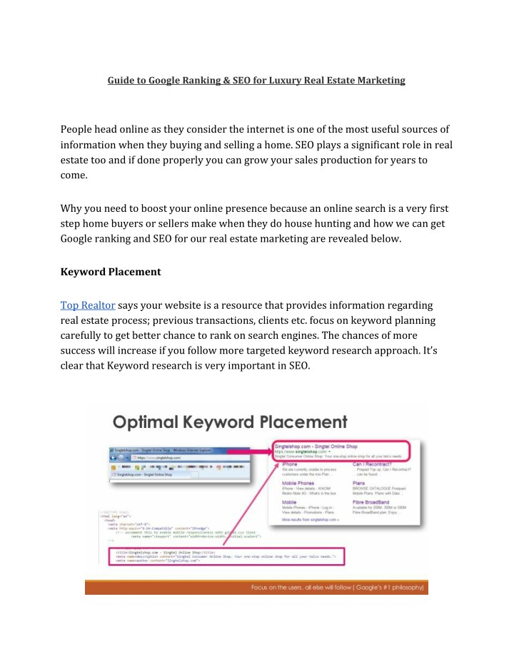 guide to google ranking seo for luxury real n.