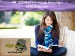 INF 103 HELP Marvelous Learning / inf103help.com
